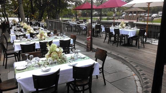 The Bridge Restaurant Raw Bar River Patio Offers A Beautiful Riverfront Setting For Weddings In Westerly Ri Www Westerlyweddings