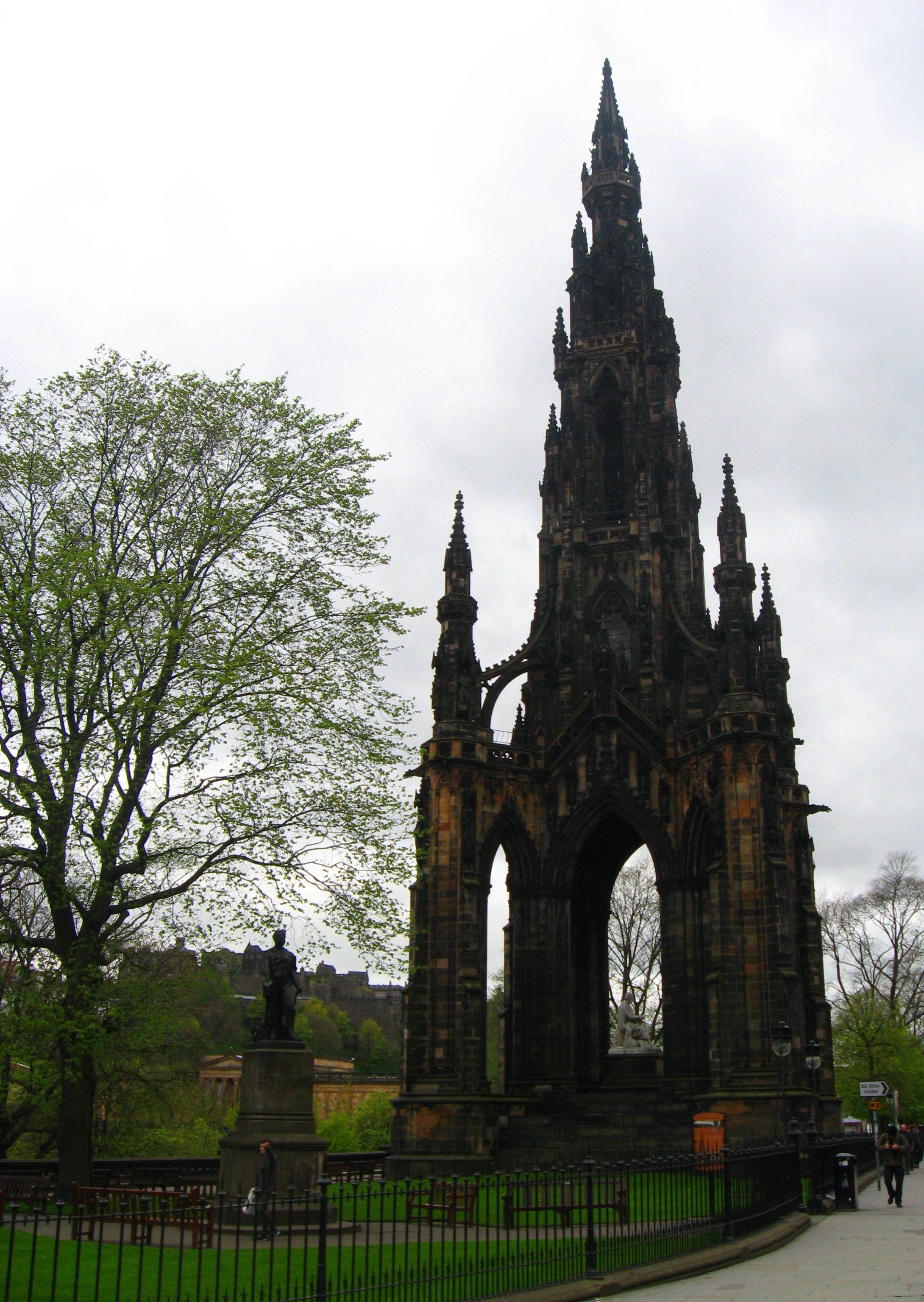 Sir Walter Scott Monument, Edinburgh, Scotland - Victorian Gothic ...