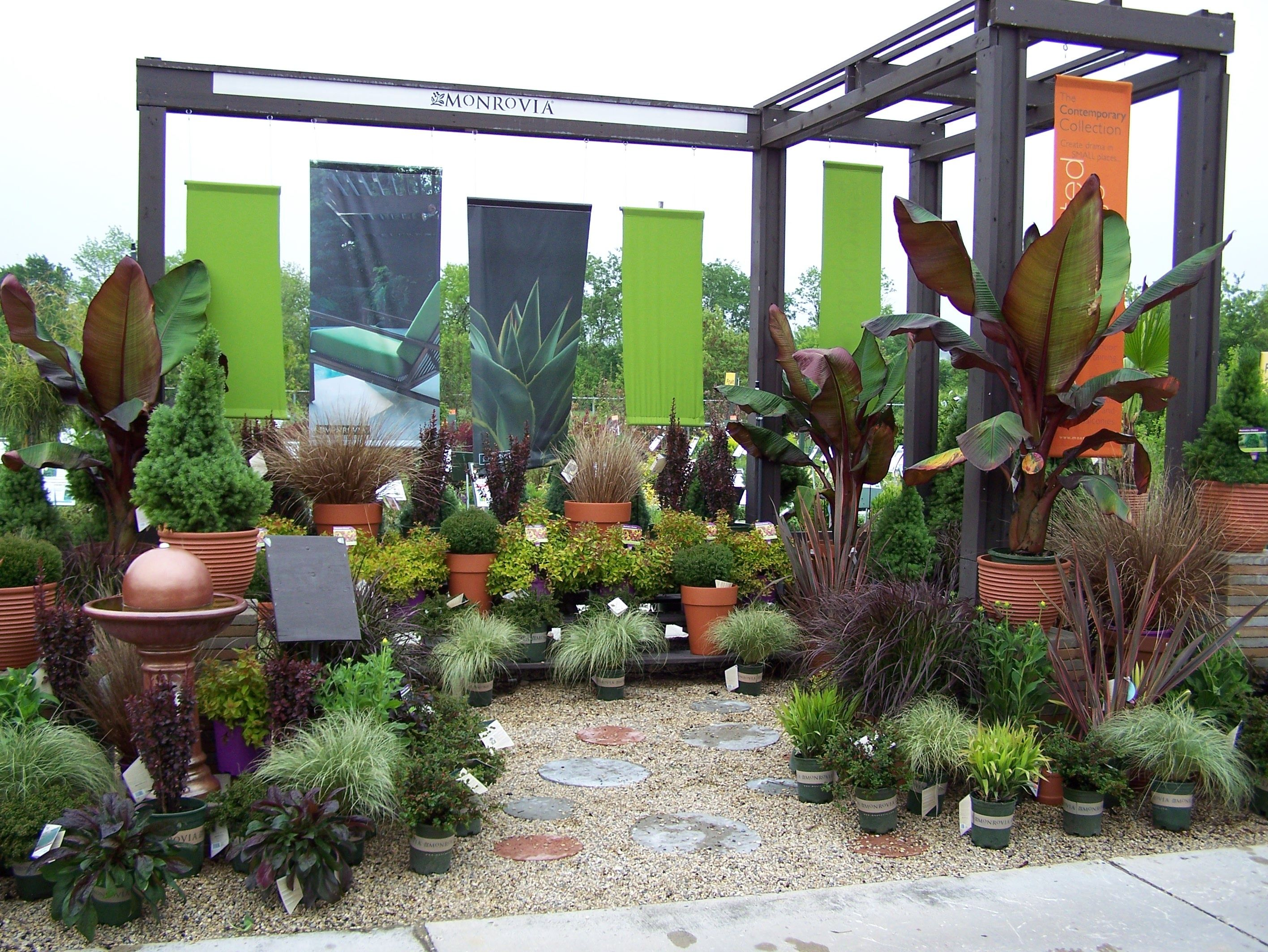 Monrovia Modern/Tropical Garden center displays