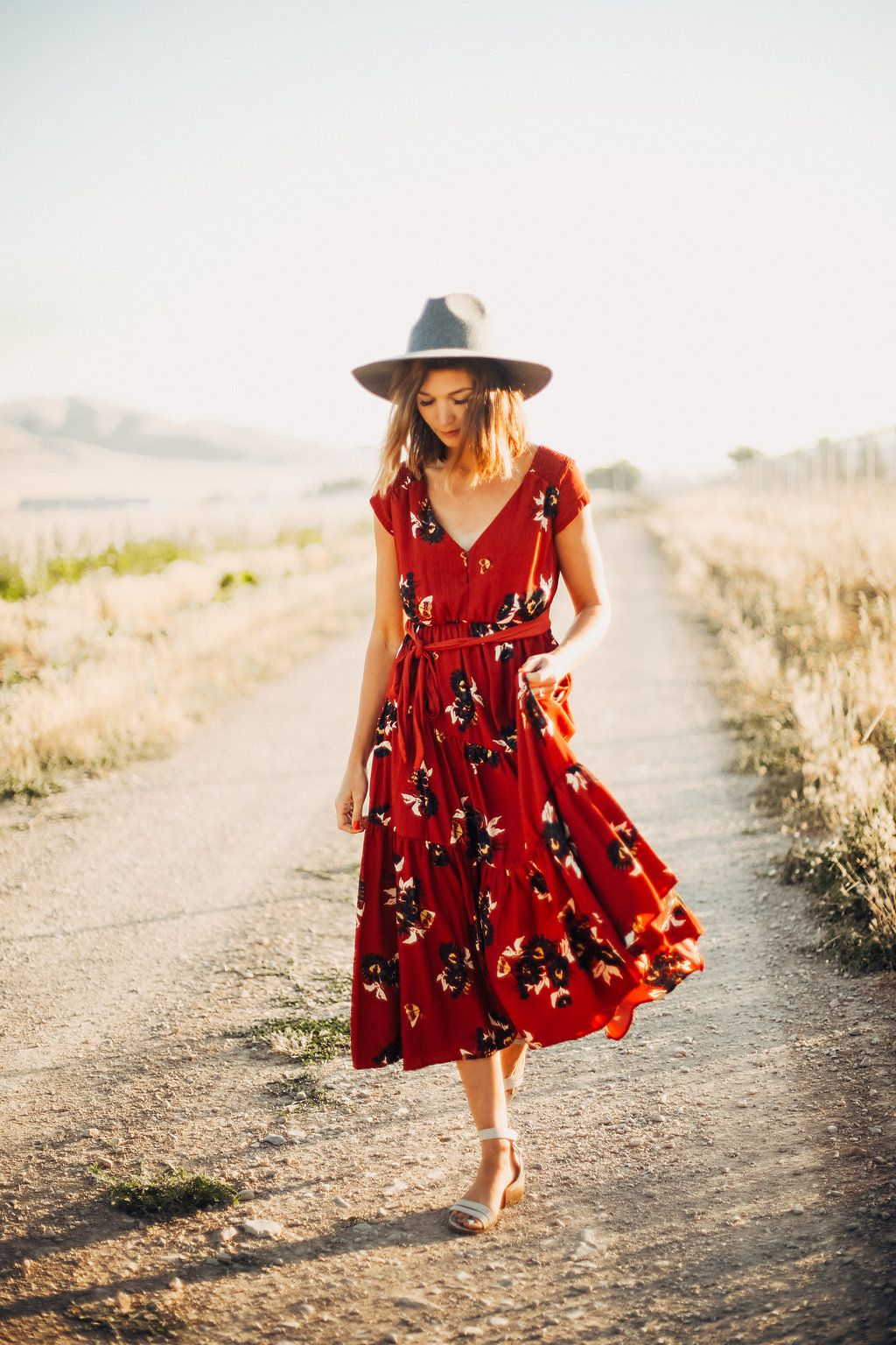 7290a65848d98c FREE PEOPLE  ALL I GOT PRINTED MAXI DRESS IN RED COMBO   DRESSES ...