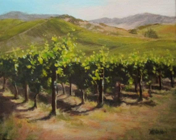 Original Vineyard Painting Quot Vineyard Summer Quot Landscape