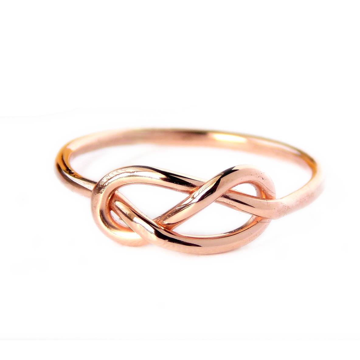 Rose Gold-filled Infinity Knot Ring   Infinity knot ring, Knot rings ...
