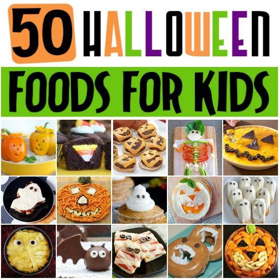 50 FUN Halloween Foods - Halloween Themed Food for Every Meal - fun halloween food ideas