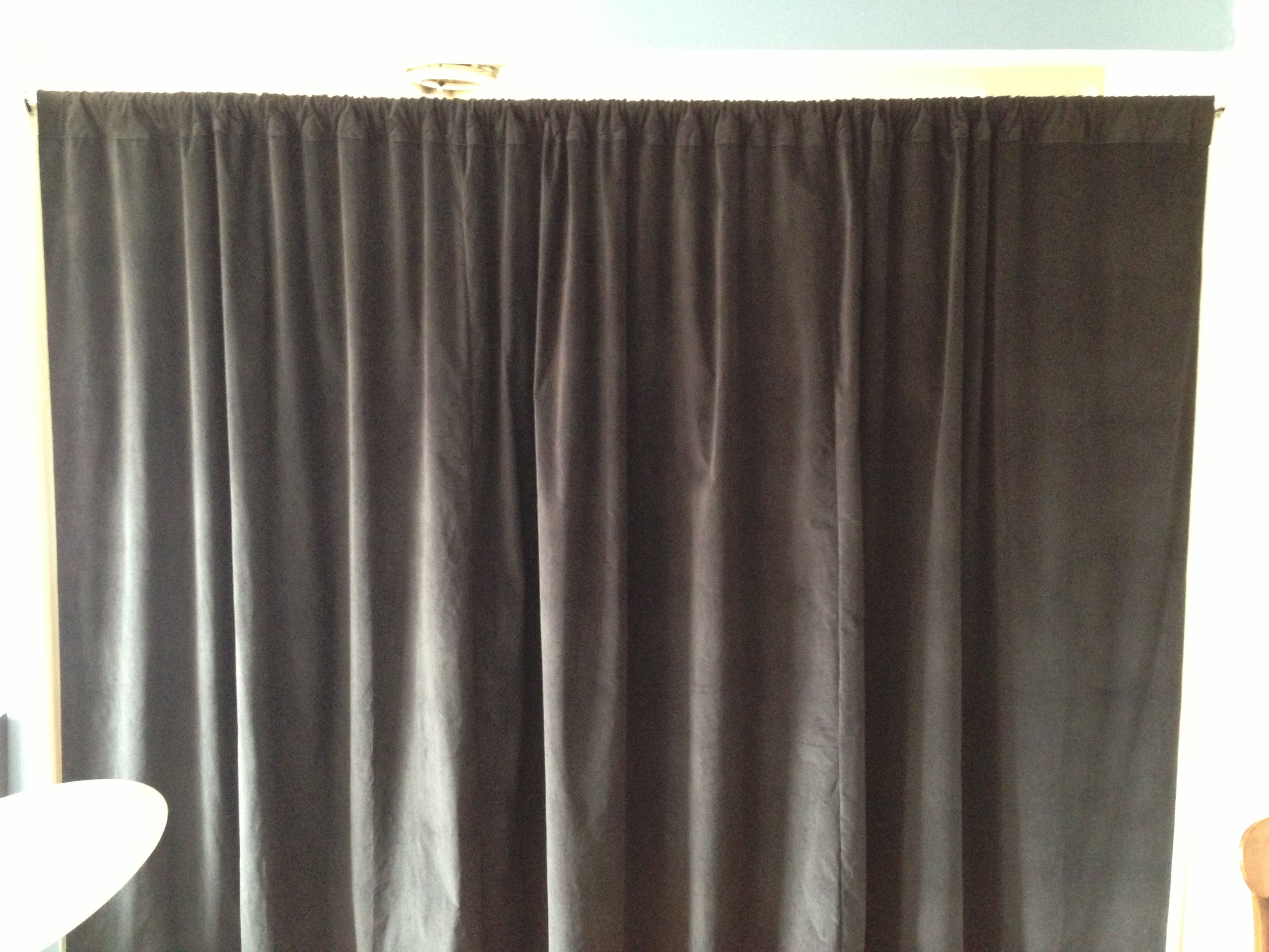 Black Velvet Curtain Soundproofing Room Divider Curtains Living