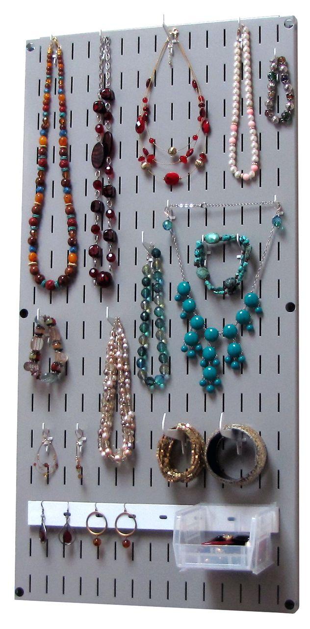 Jewelry Organizer Wall Hanging Jewelry Holder Necklace Rack Gray