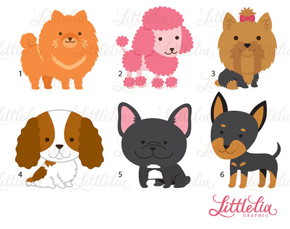 Cute Toy Dog Clipart Dog Clipart 16017 Etsy Dog Toys Cute Toys Cute Animal Drawings