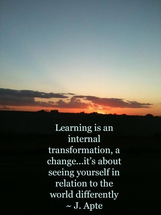 Learning = Tranformation