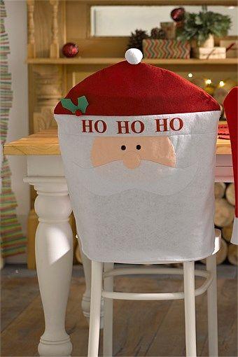christmas chair covers pinterest desk velvet xmas ideas