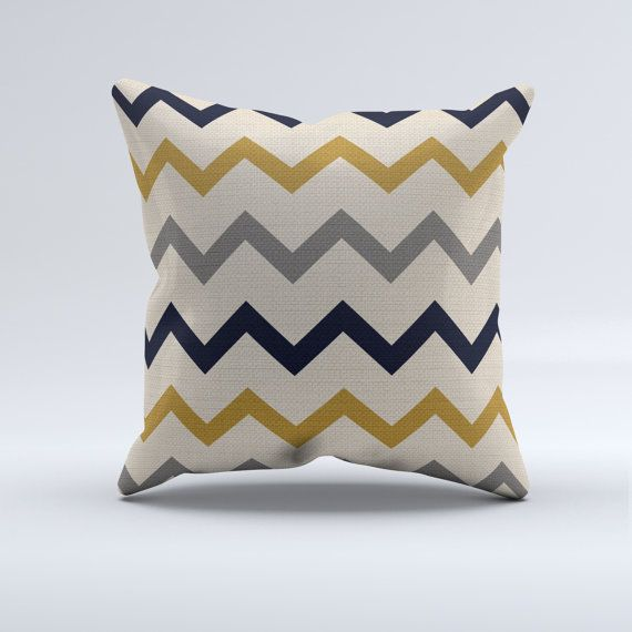 ce350ce3c7b navy blue and mustard yellow and cream throw by PrintArtShoppe