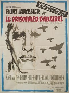 Posteritati Birdman Of Alcatraz 1962 French 47x63 Movie Posters