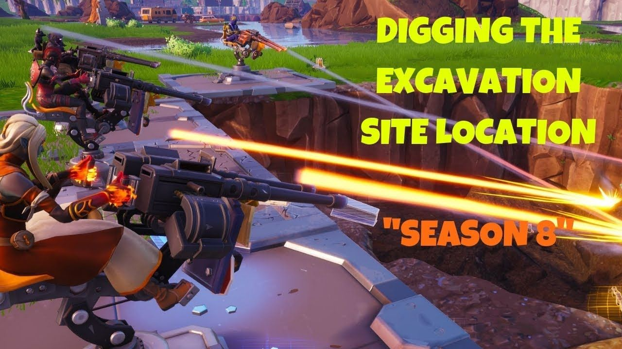 fortnite third new excavation site update in loot lake location season 8 battle royale help us reach 5k subs we would really appreciate the support - excavation site fortnite