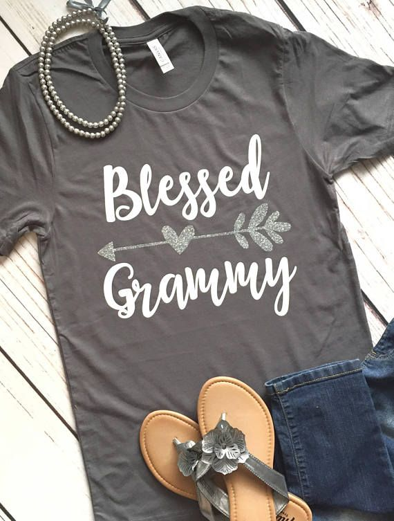 ce5c4d146 Blessed Mimi Nana Grammy Granny shirt, Grandma Personalized T Shirt, Gift  for Grandma, Gigi Life, Gr
