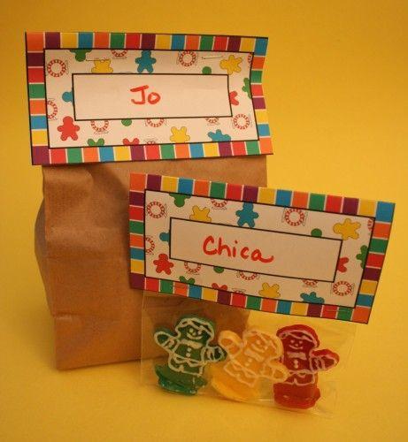 Candyland Theme Candyland bag tag template, j Sugar \ Spice - bag tag template
