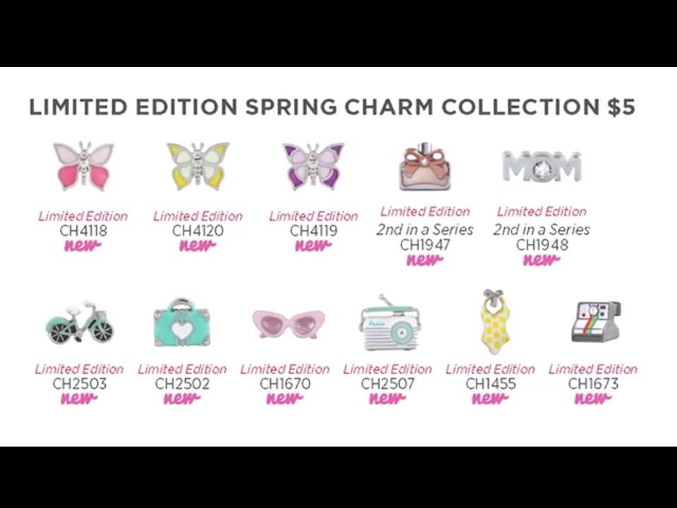 2015 Spring Limited Addition Charms Available March 17th 2015