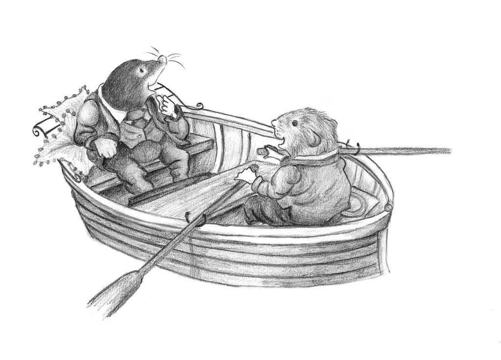 The wind in the willows by ellunalle in pencil kenneth for Wind in the willows coloring pages