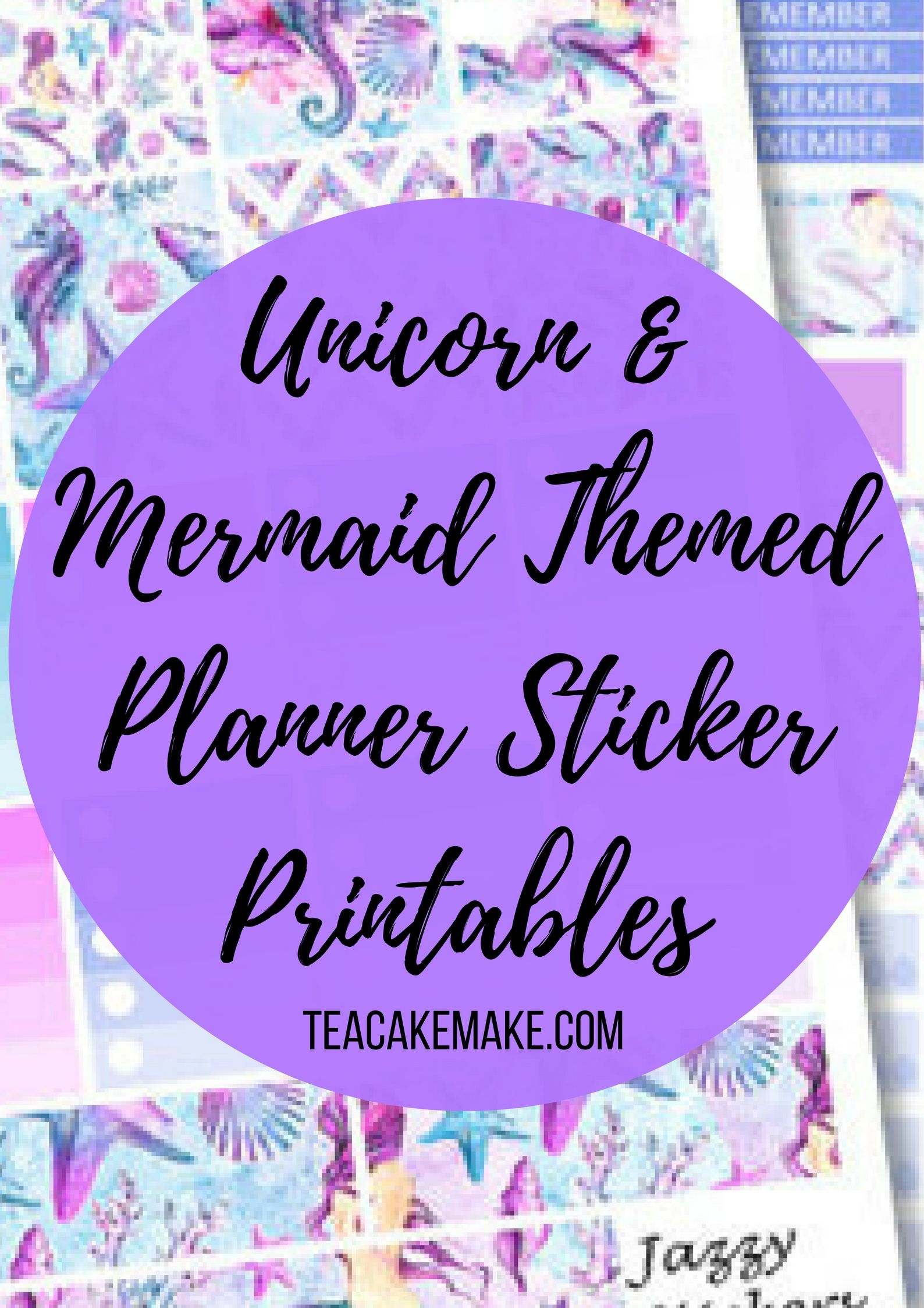 Follow the unicorn and mermaid trends in your own planner with this selection of gorgeous themed planner sticker printables from the best Etsy shops!