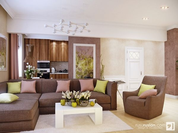 Living Room Color Scheme Ideas In Pastel Hue And Earth Tone