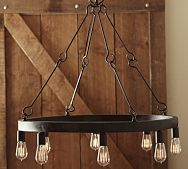 Jasper Filament Bulb Chandelier I M Liking This As An Industrial Themed Chandelier For The Livin With Images Rustic Chandelier Iron Chandeliers Chandelier In Living Room