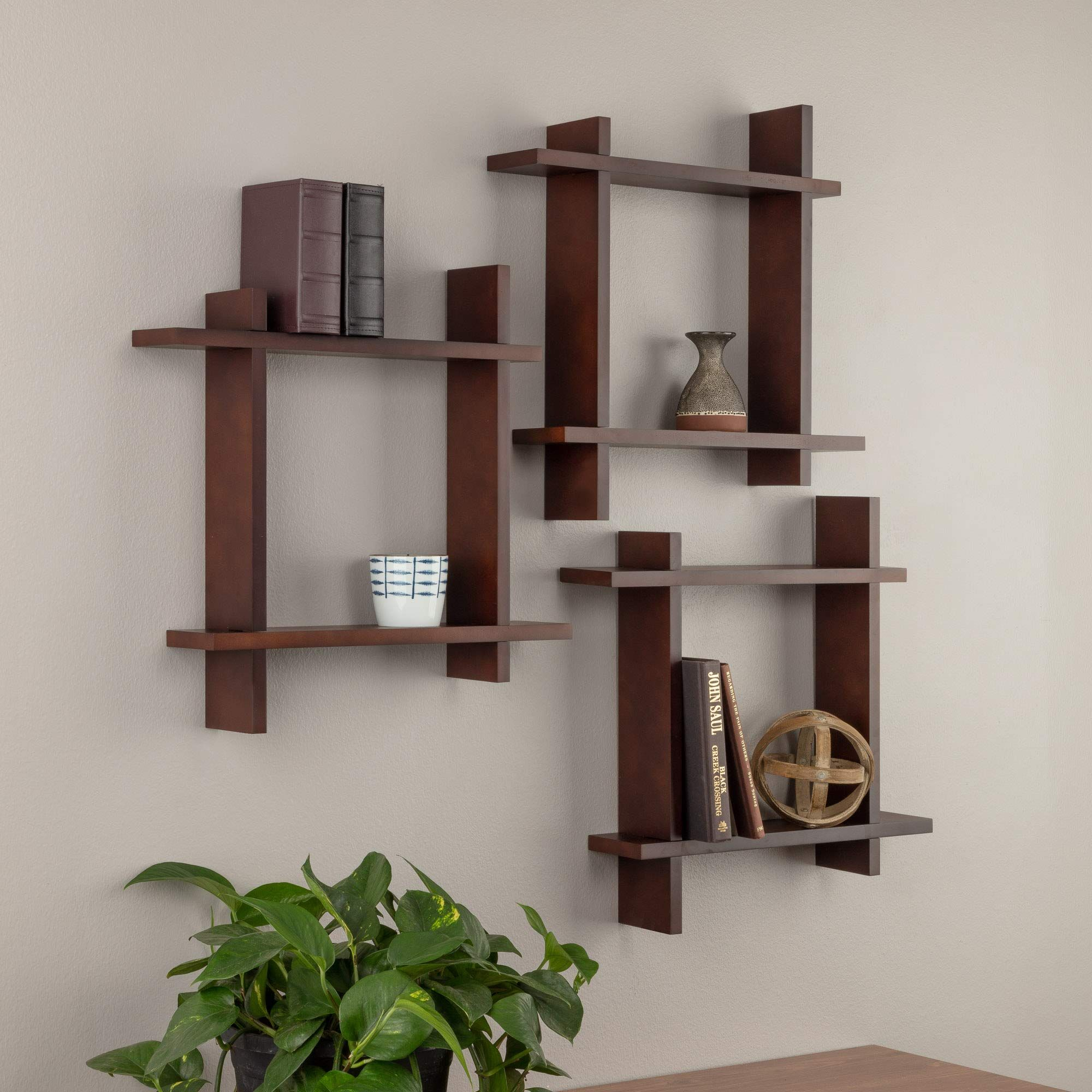 Burnes Of Boston Interlocking Wall Mounted Storage Cube Set Set