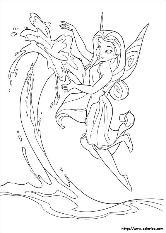 Coloriage La Fee Clochette Paginas Para Colorir Da Disney