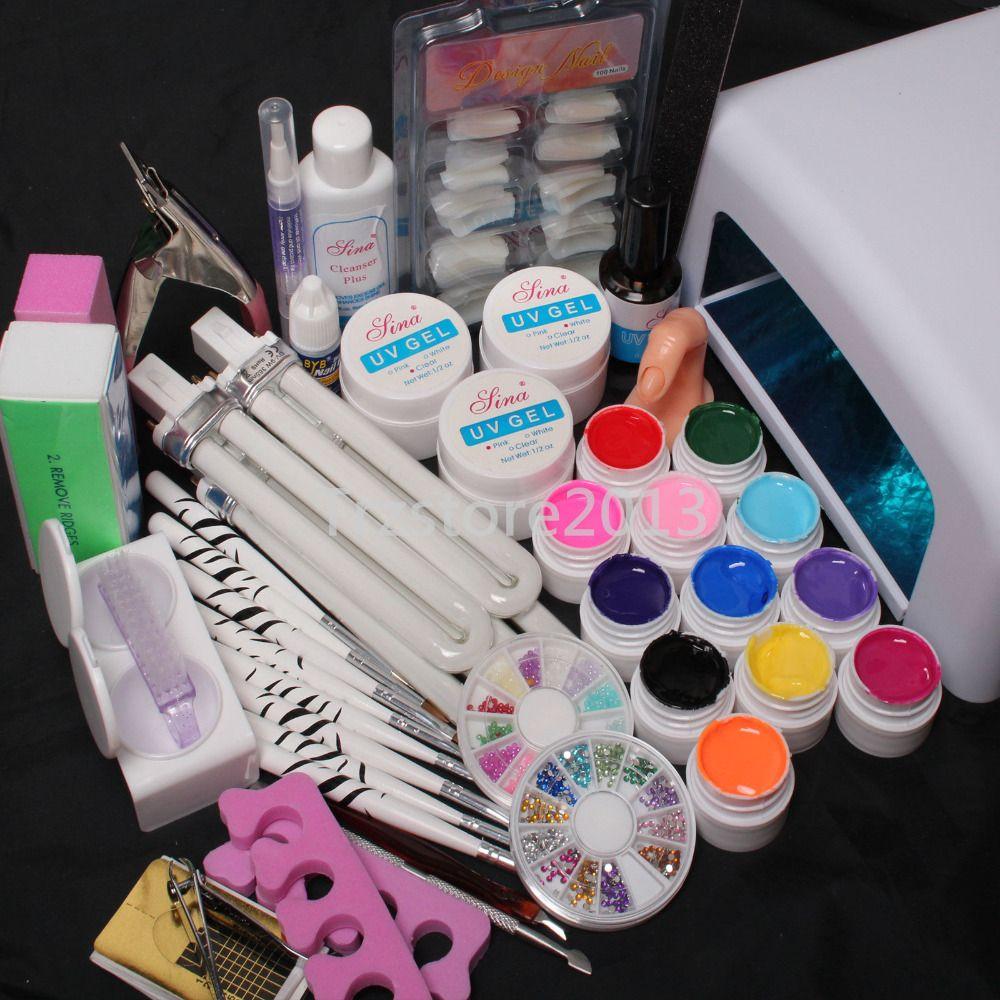 Pro Tube Lamp Timer Dryer Pure Color UV Gel Practice Finger Nail Art ...