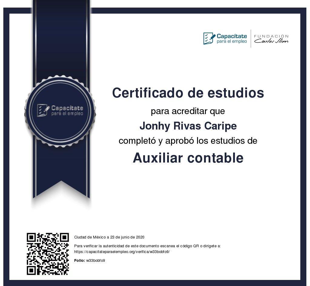 Pin by Jonhy Rivas Caripe on certificado