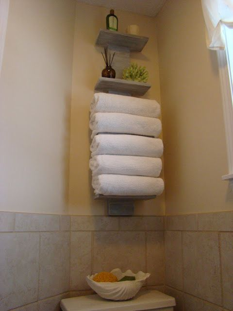 bath towel storage make it yourself diy will my black wall rh pinterest com Wall Shelves and Ledges Towel Rack
