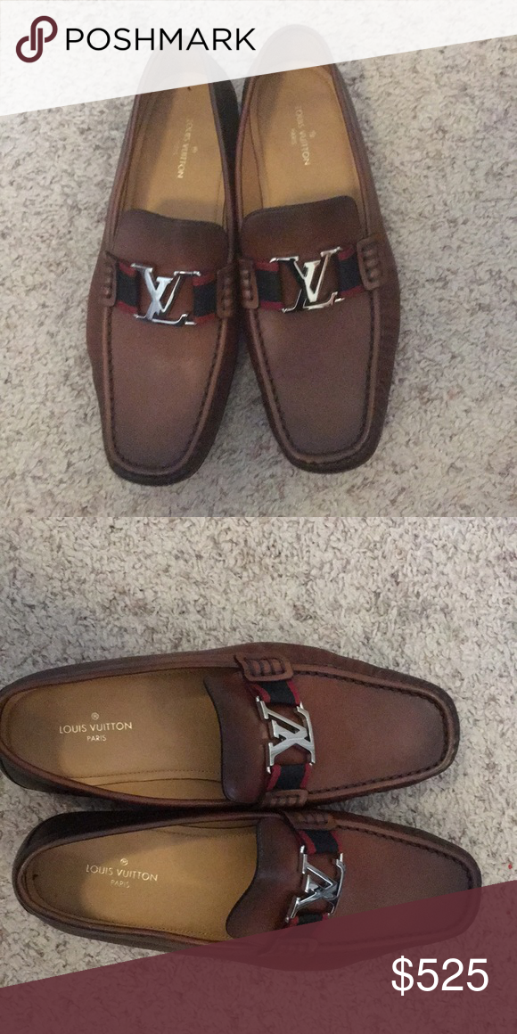 c0bb532cf7d6 Louis Vuitton Loafers Brown Louis Vuitton Montaigne Loafer Louis Vuitton  Shoes Flats   Loafers