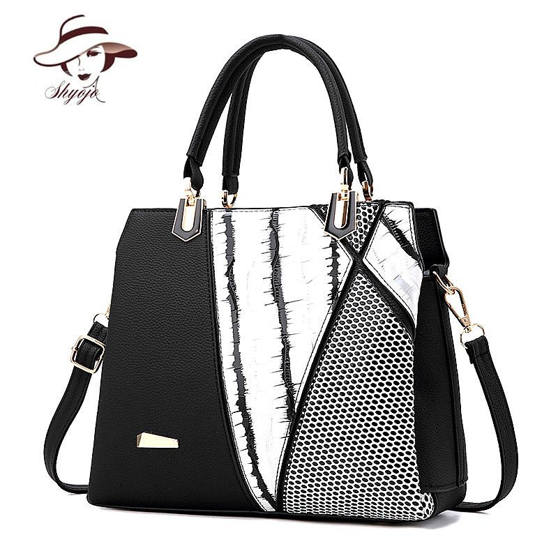 European And American Style Luxury Famous Brand Handbags Women Bags Designer Patchwork Las Crossbody Shoulder Pu Leather Affiliate