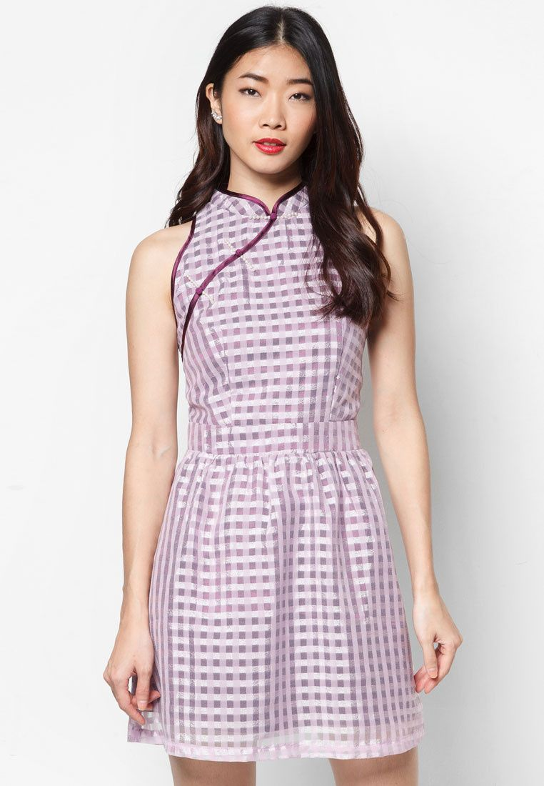Buy Inner Circle Motley Cheongsam Zalora Singapore Cheongsam Dresses High Neck Dress