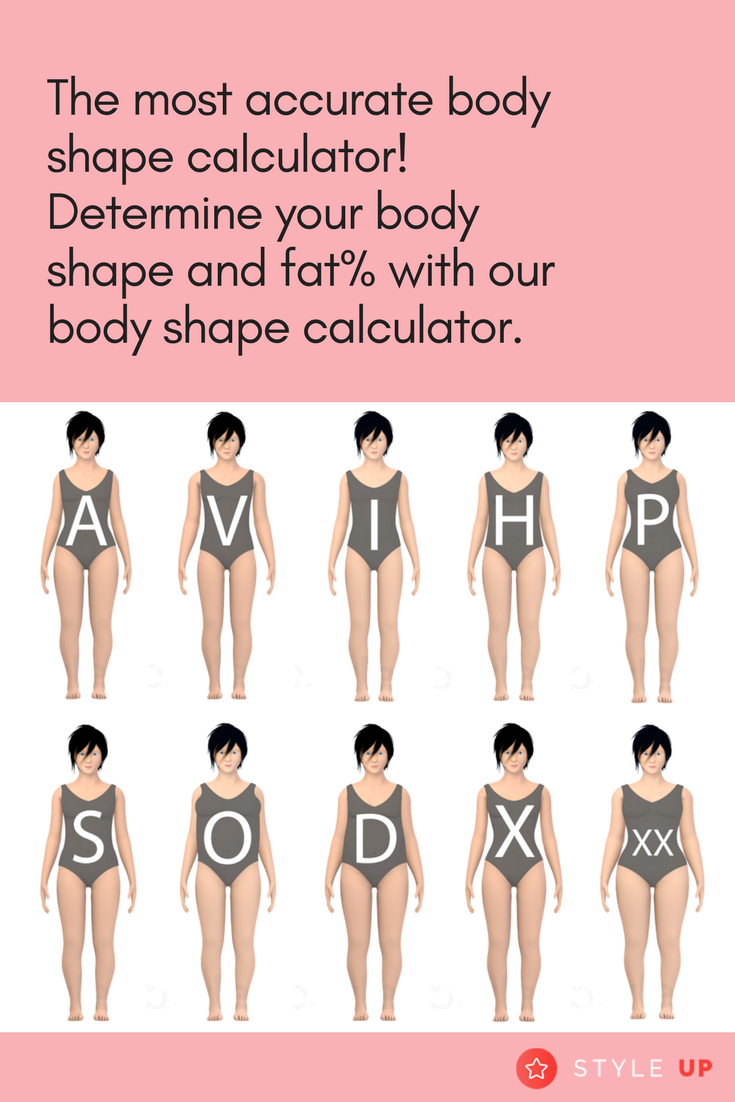8bee4b2da The most accurate body shape calculator! Determine your body shape and fat  percentage with our