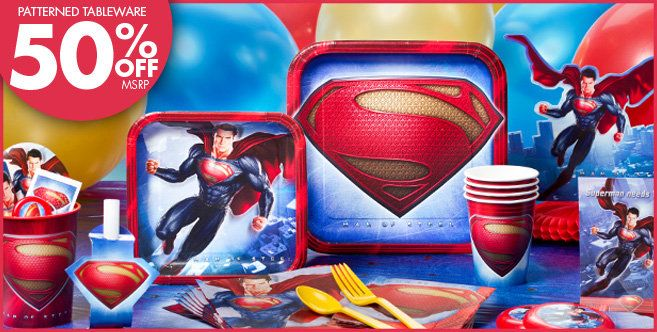 Superman Party Supplies Superman Birthday Party City Superhero