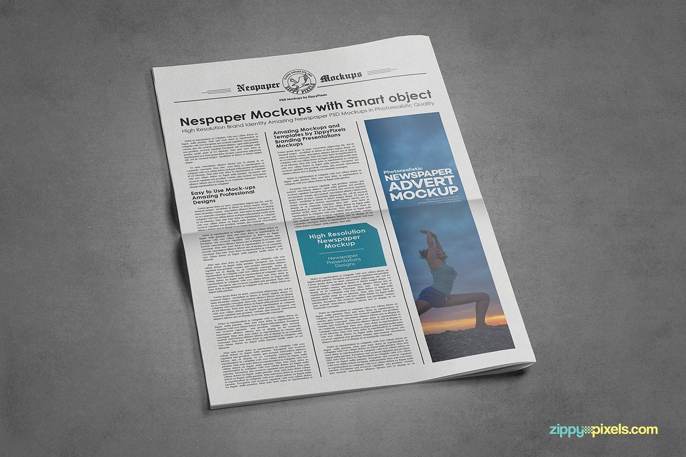Tabloid Size Newspaper Mockups Vol 8 Newspaper Graphic Design Resume Newspaper Design