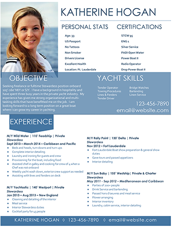 Super Yacht Resume | Administrative assistant | Pinterest | Resume ...