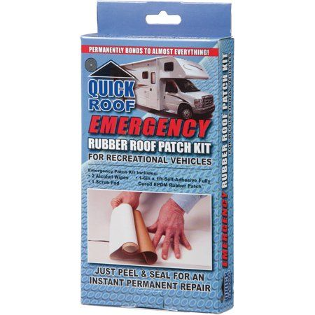 Quick Roof Emergency Rubber Roof Patch Kit, 6 inch x 12 inch