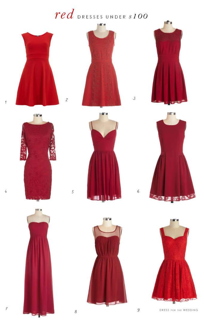 fbf7a85ed4 Cute Red Dresses for Under  100 for weddings