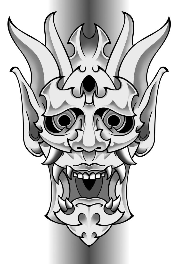 Samurai oni | Oni Samurai Mask Tattoo images | SpellBinding ...