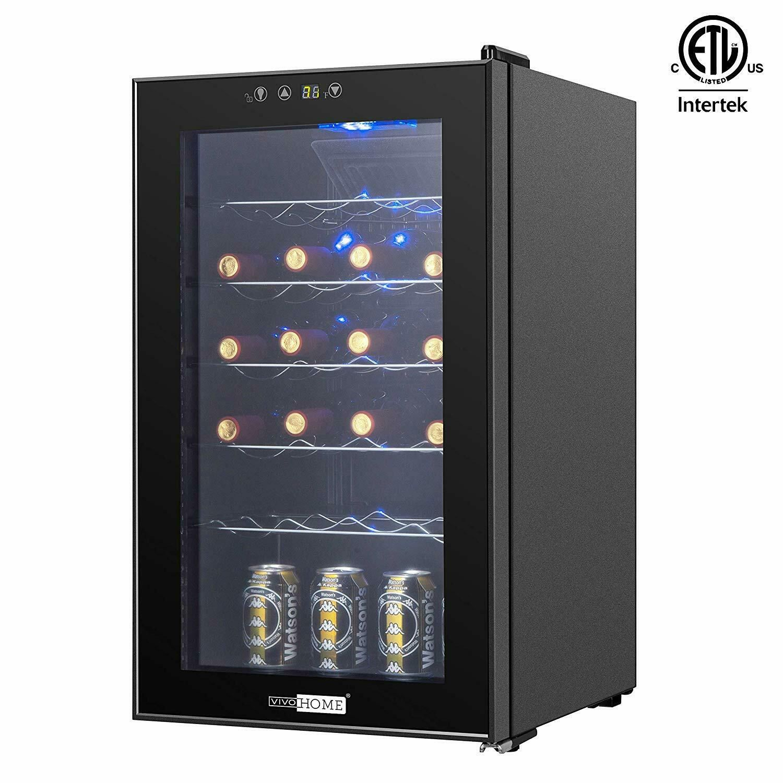 Vivohome 20 Bottle Freestanding Wine Cooler Refrigerator Cellar Fridge Chiller Wine Cooler Cellar Bottle