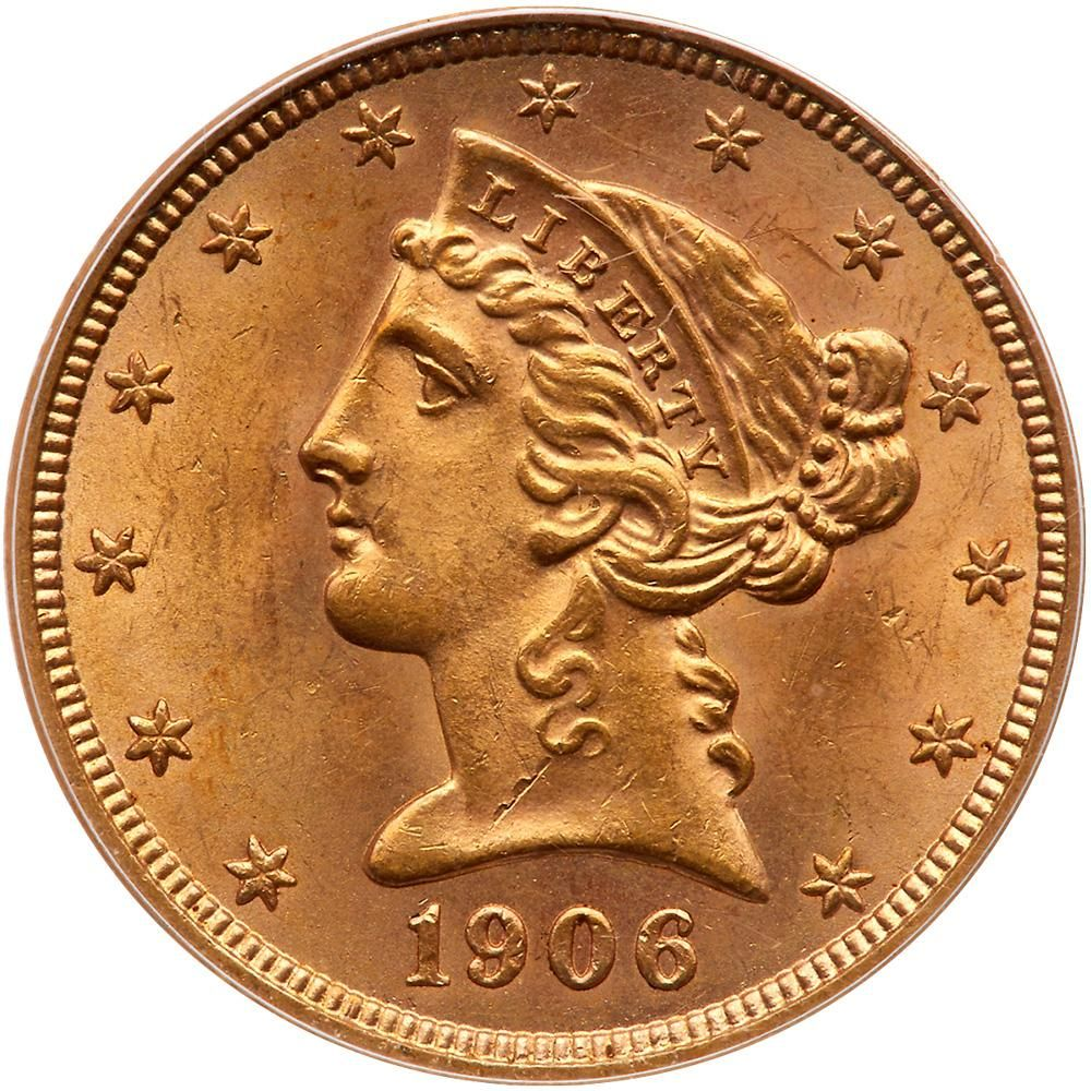 Coins - Gold - US $5 00   Coins - Gold - US - MAD on