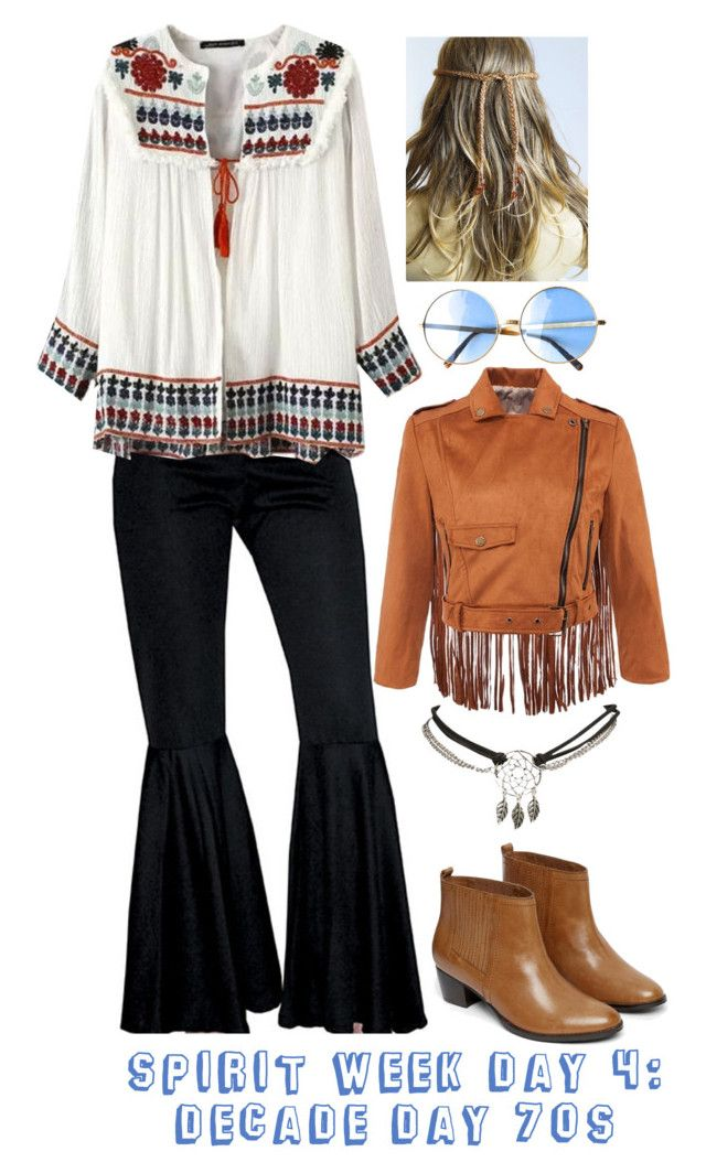 """Spirit week day 4: Decade Day 70s"" by megan-walz21 ❤ liked on Polyvore featuring Warehouse and Wet Seal"