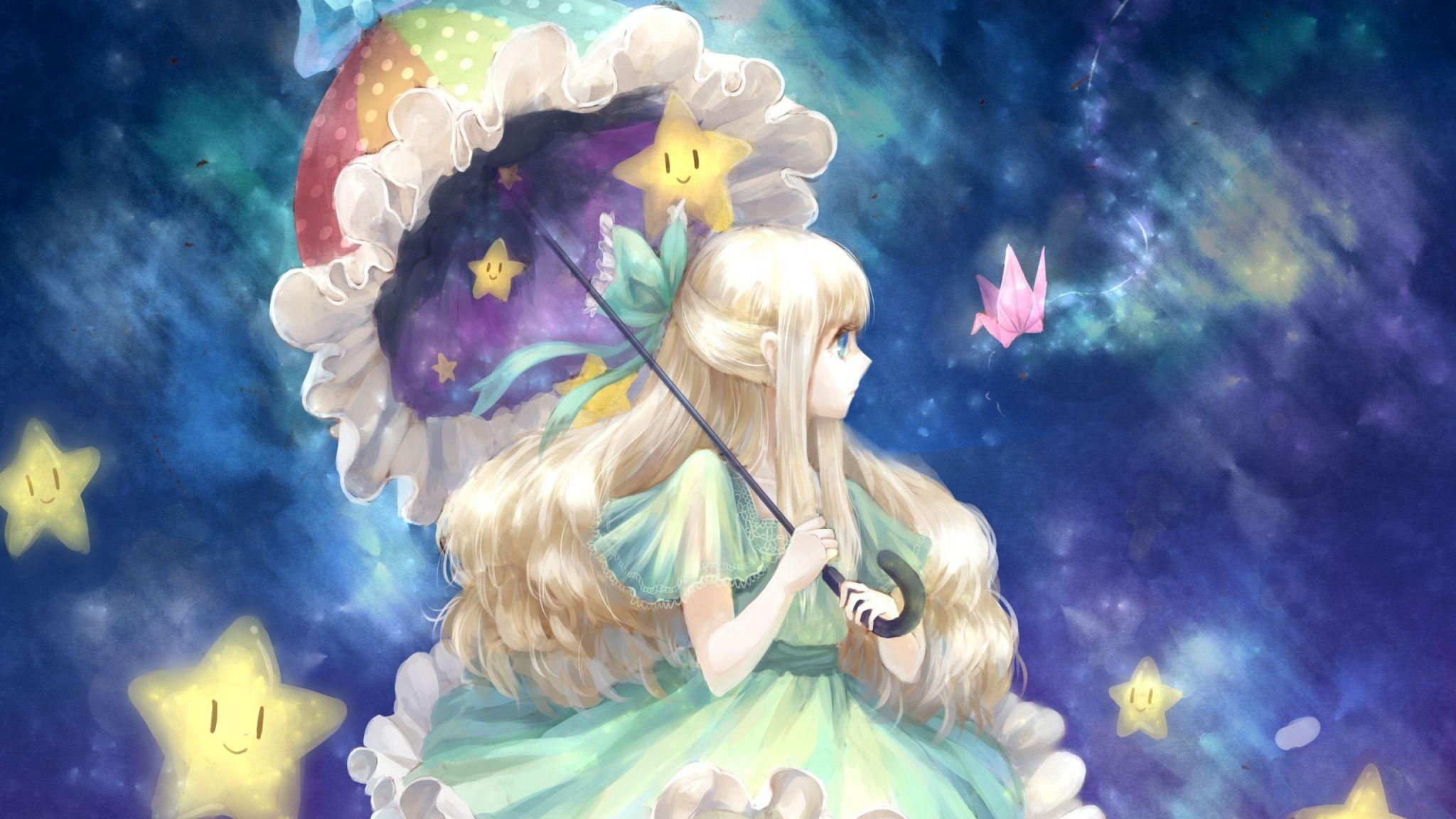 Girl Anime Art Umbrella 104966 2048x1152 Jpg 2048 1152 Anime Wallpaper Japanese Cartoon Art Hd Anime Wallpapers