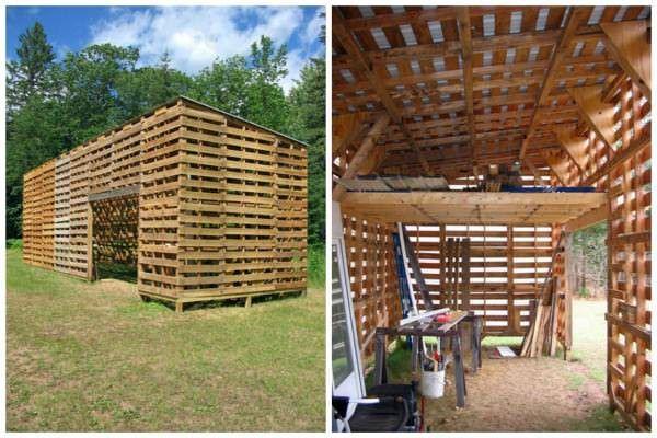 Upcycled Pallet Barn Mobilier De Salon Abri De Jardin Et Recup Palette