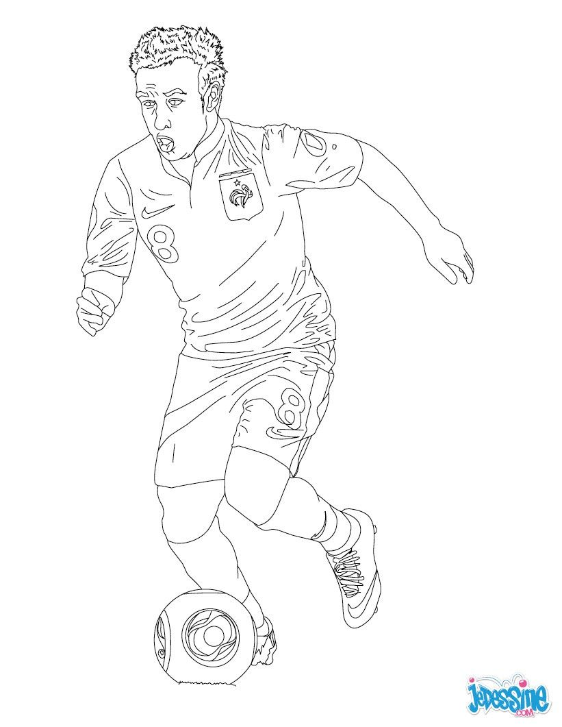 Coloriage du joueur de foot Matthieu Valbuena € imprimer gratuitement ou colorier en ligne sur
