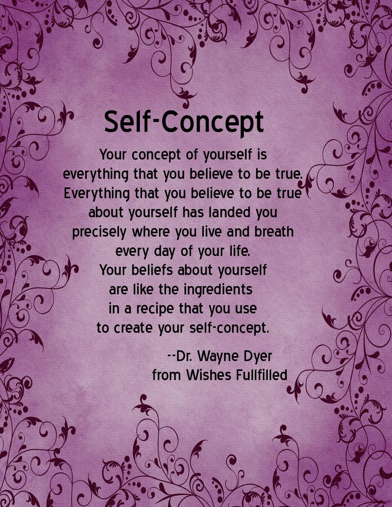 Self Concept & Self Esteem