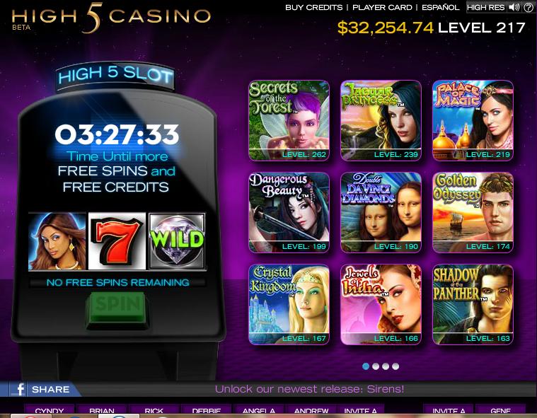 High 5 casino real slots omaha casino reviews
