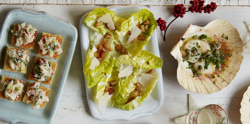 Christmas canapé recipe: Caesar salad cups