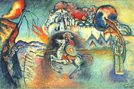 Wassily Kandinsky, St. George and the Dragon on ArtStack #wassily-kandinsky-vasilii-vasil-ievich-kandinskii #art