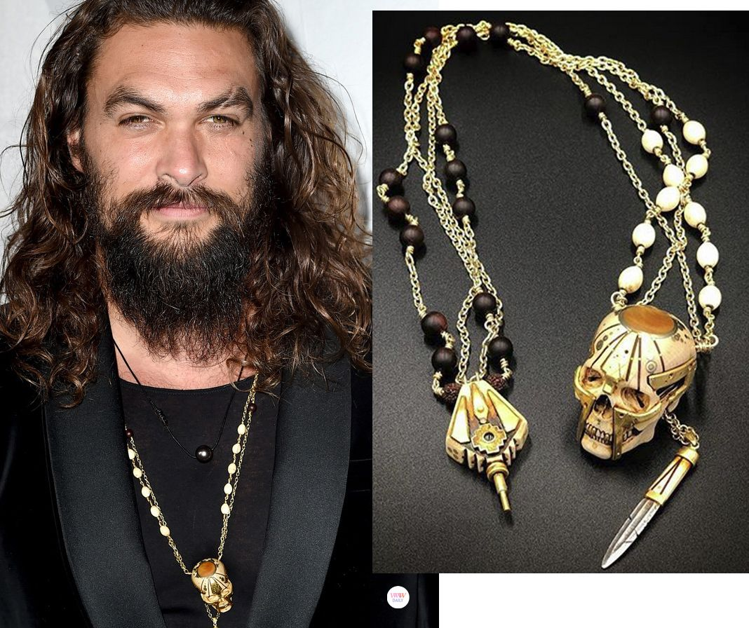 Jason Momoa Necklace: BEST OF: Best Jewelry At The LA Premiere Of 'Aquaman