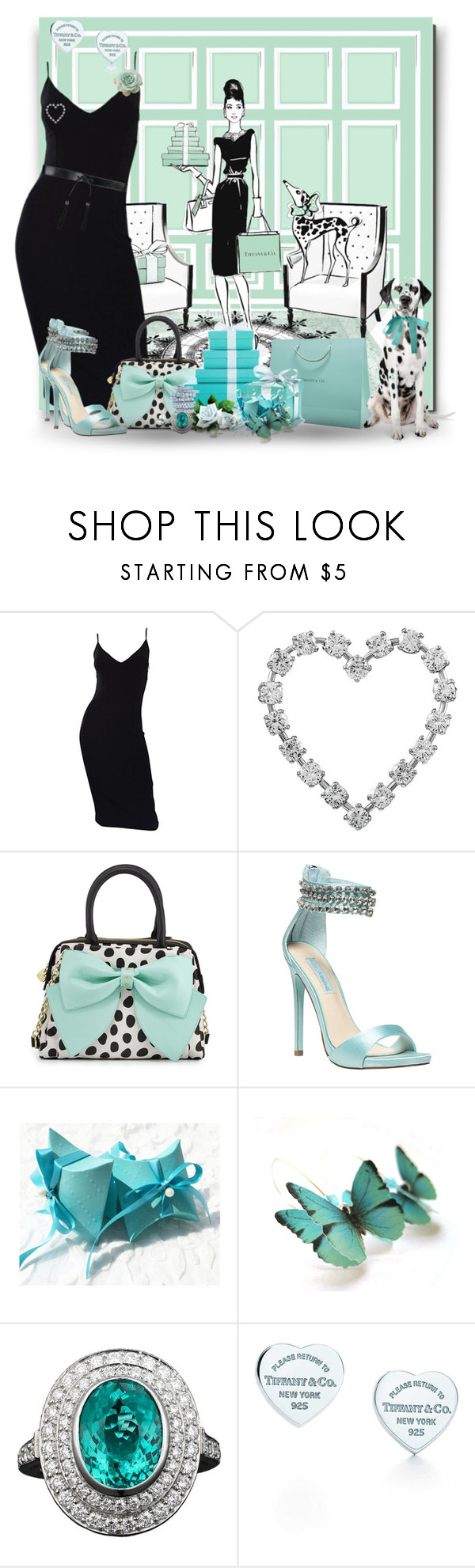 """Audrey Sketch Art"" by jewelsinthecrown ❤ liked on Polyvore featuring Michael Kors, Tiffany & Co., Betsey Johnson and Yves Saint Laurent"