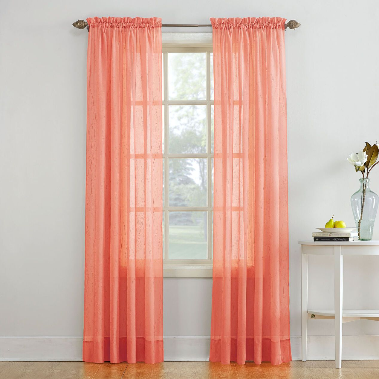 Erica Rod Pockpnl 84 Coral In 2020 Rod Pocket Curtain Panels